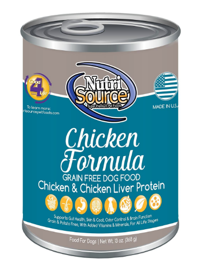 NutriSource GF Chicken 13 oz. Dog Food