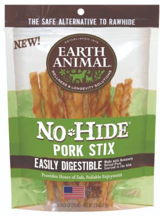 Earth Animal No Hide Pork Stix 10 pk.