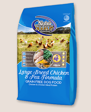 NutriSource GF Large Breed Chicken & Pea Formula Dog Food