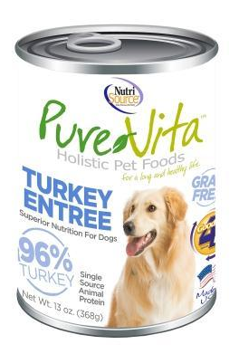 PureVita Turkey Entree Can 13 oz. Grain Free Dog Food