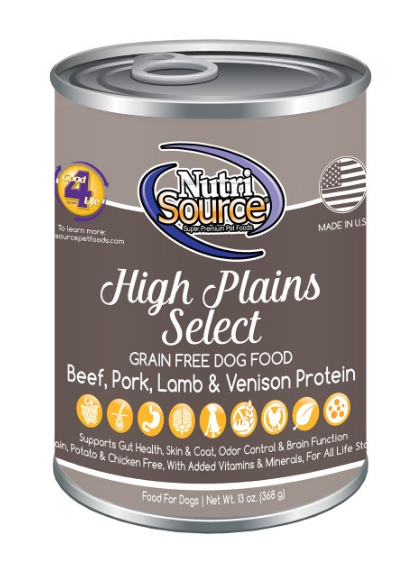 NutriSource GF High Plains Select 13 oz Dog Food