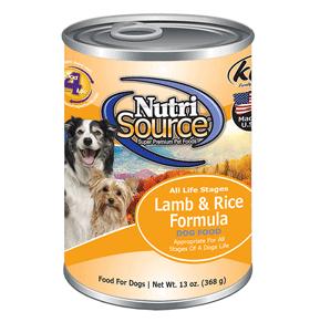 NutriSource Lamb & Rice Can 13 oz. Dog Food