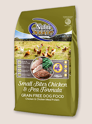 NutriSource GF Small Breed Chicken & Pea Formula Dog Food