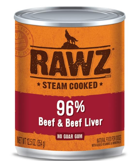 Rawz Beef & Liver Dog Cans