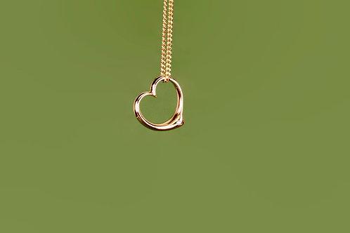Kettenanhänger Herz 585 Gelbgold