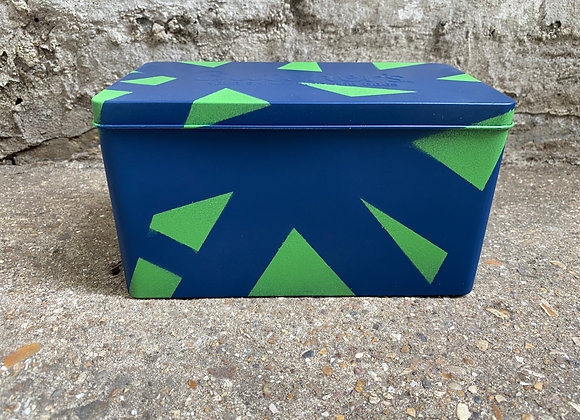 Blue and Green Tin