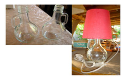 Olive Oil Botle into lamp