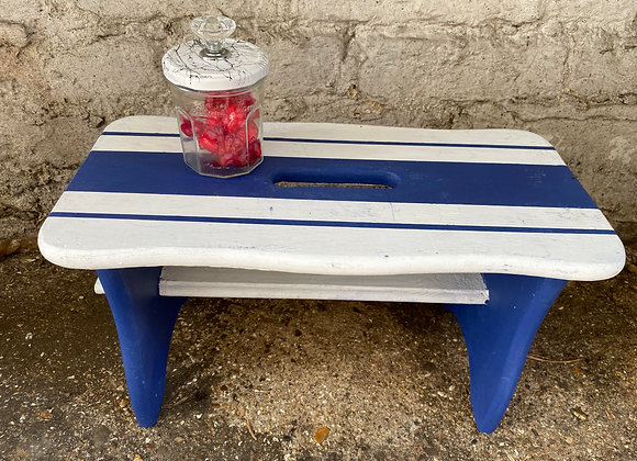 Blue and White Strips Children Bench