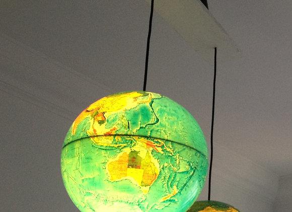 World globe ceiling lights