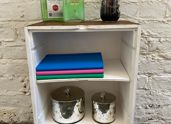 Wine box side table with shelve