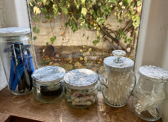 Marble Effect Glass Jars