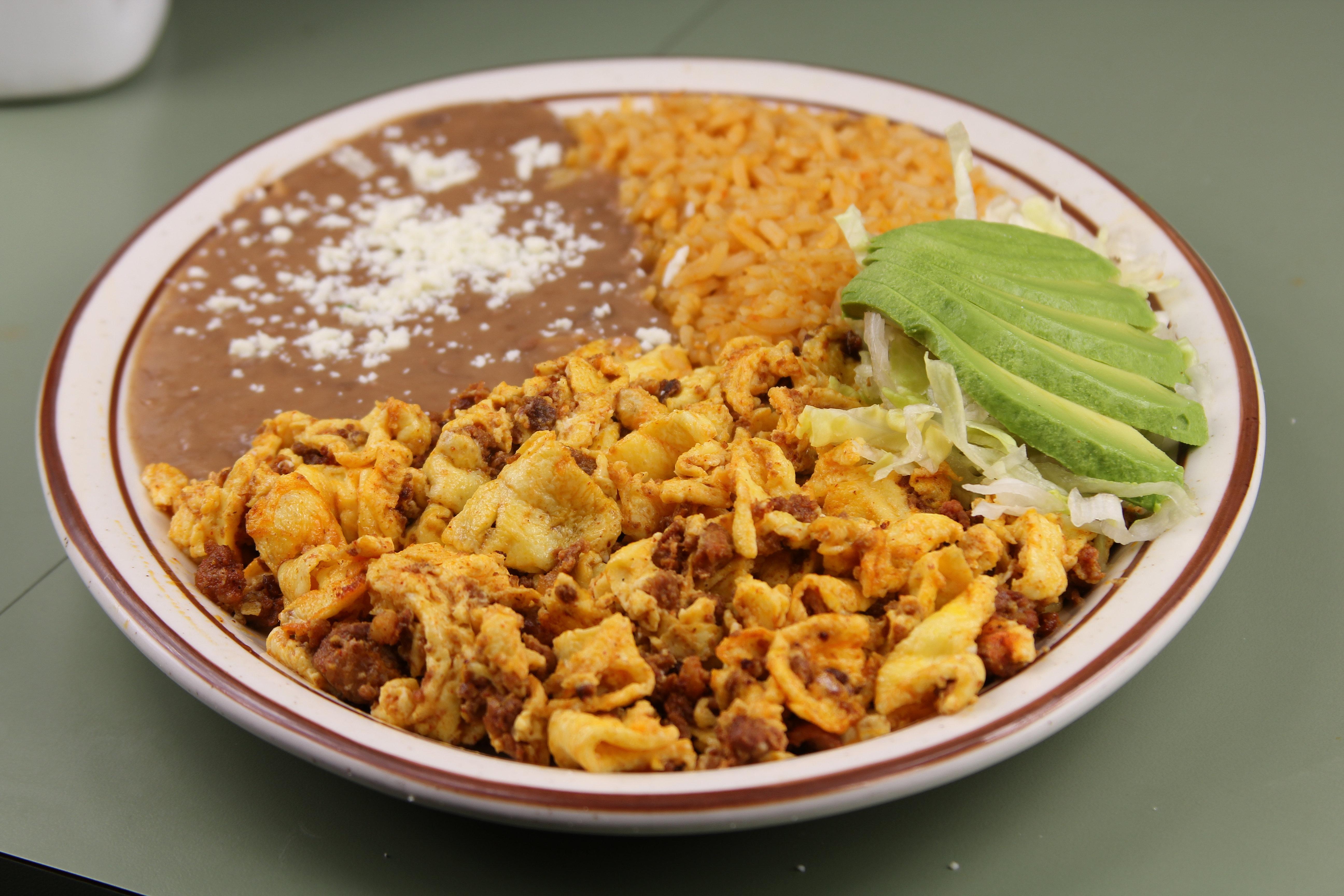 lafondabakersfield.com   Huevos con Chorizo $6.49