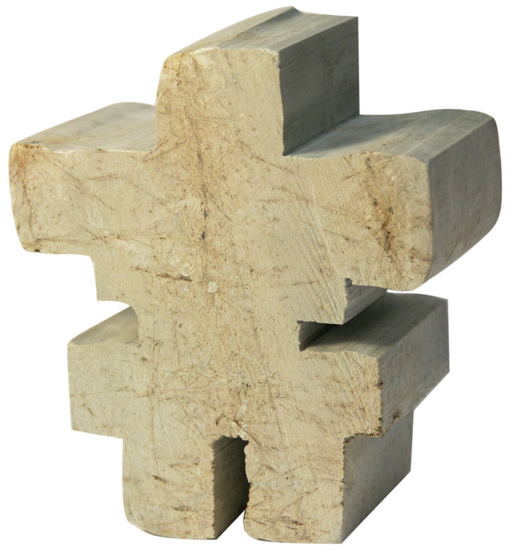 Soapstone Blank Inukshuk Sculpture Carving Kit
