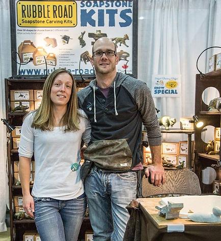 Jennifer Cornelius and David Swojanovski Owners of Rubble Road Soapstone
