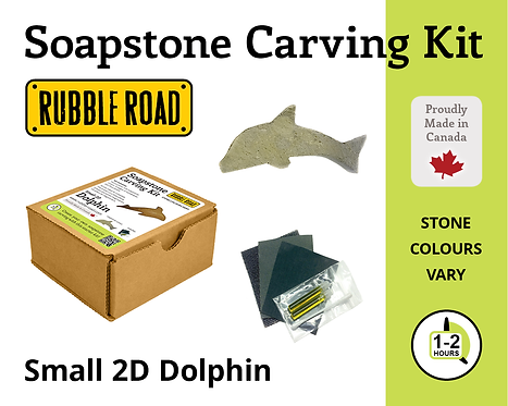 Dolphin Small Soapstone Carving Kit