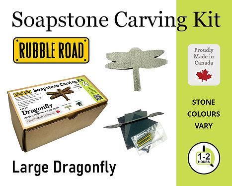 Dragonfly Large Soapstone Carving Kit