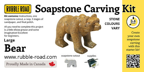Bear Large Soapstone Carving Kit