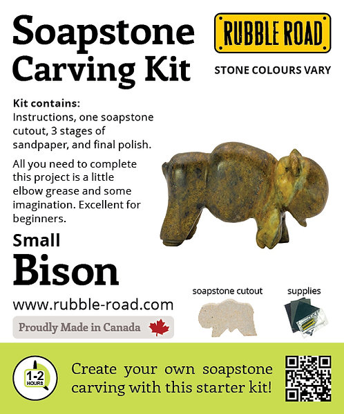 Bison Small Soapstone Carving Kit