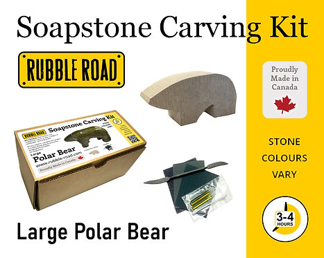 Polar Bear Large Soapstone Carving Kit