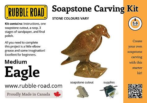 Eagle Medium Soapstone Carving Kit