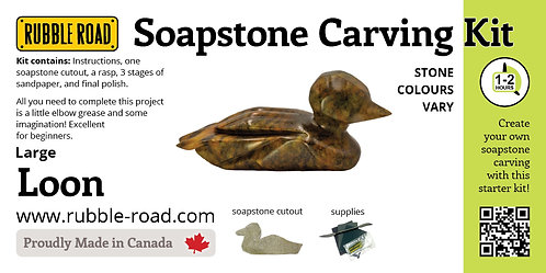 Loon Large Soapstone Carving Kit