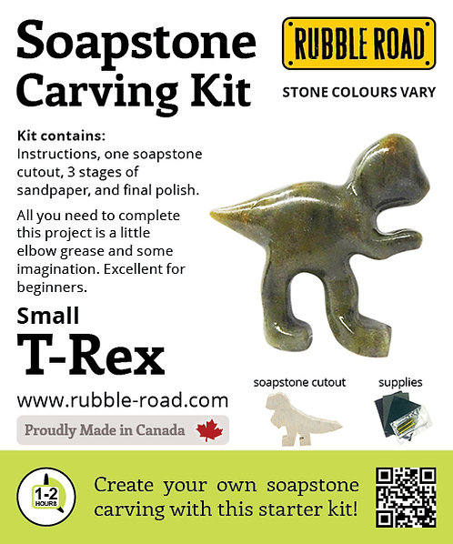 TRex Small Soapstone Carving Kit