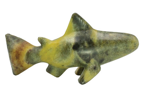 Handcarved Soapstone Fish Carving