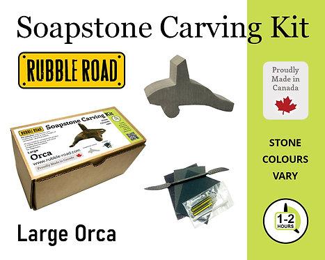 Orca Large Soapstone Carving Kit
