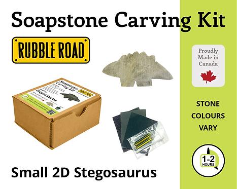 Stegosaurus Small Soapstone Carving Kit