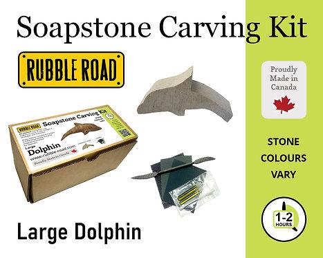 Dolphin Medium Soapstone Carving Kit