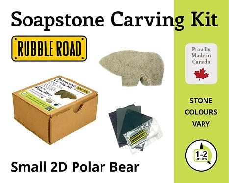 Polar Bear Small Soapstone Carving Kit