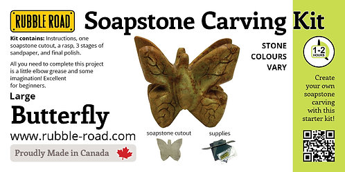 Butterfly Large Soapstone Carving Kit