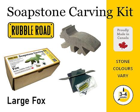 Fox Large Soapstone Carving Kit