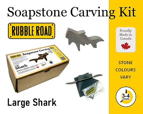 Shark Large Soapstone Carving Kit