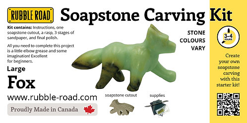 Fox Large Soapstone Carving Kit