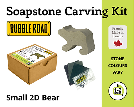 Bear Small Soapstone Carving Kit