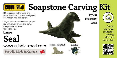 Seal Large Soapstone Carving Kit