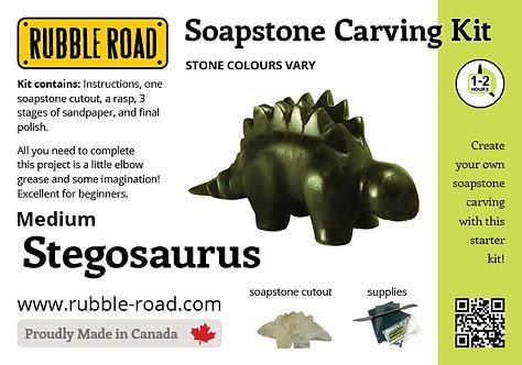 Stegosaurus Medium Soapstone Carving Kit