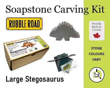 Stegosaurus Large Soapstone Carving Kit