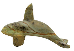 Orca / Killer Whale Sculpture Carving Soapstone