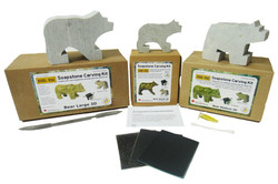 Soapstone Carving Kits Bear Scuptures DIY