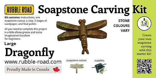 Dragonfly Large Soapstone Carving Kit