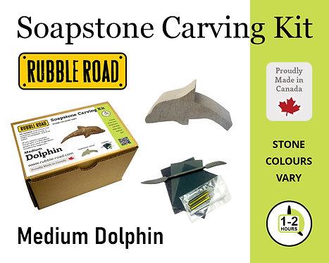 Dolphin Large Soapstone Carving Kit