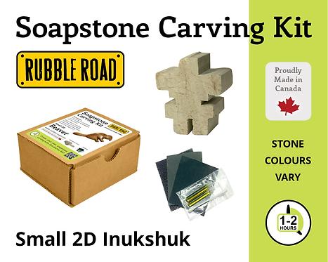 Inukshuk Small Soapstone Carving Kit