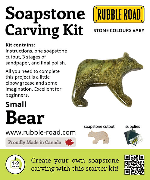 Bear Small Soapstone Carving Kit