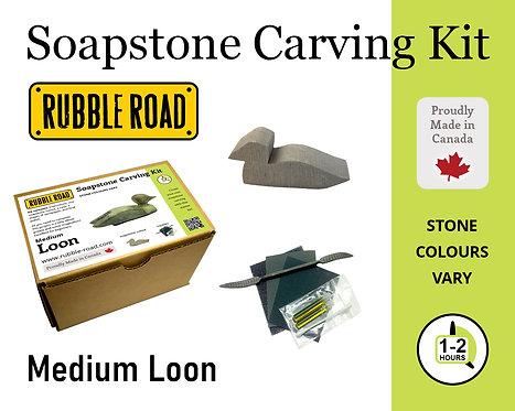 Loon Medium Soapstone Carving Kit