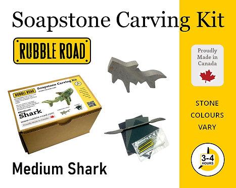 Shark Medium Soapstone Carving Kit