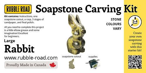 Rabbit Large Soapstone Carving Kit