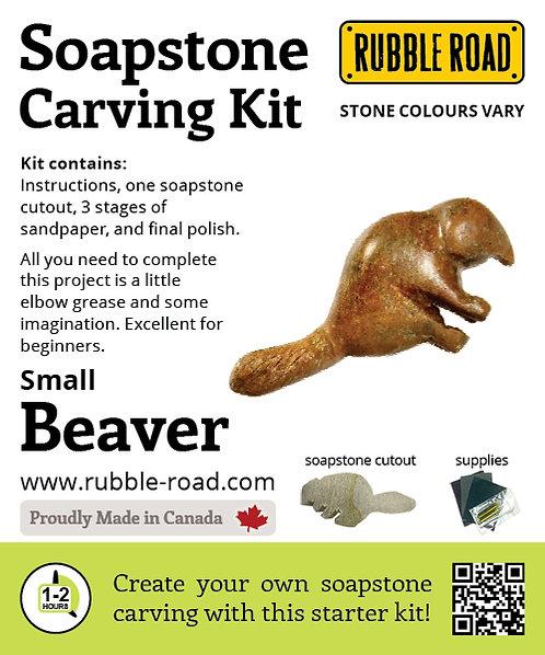 Beaver Small Soapstone Carving Kit