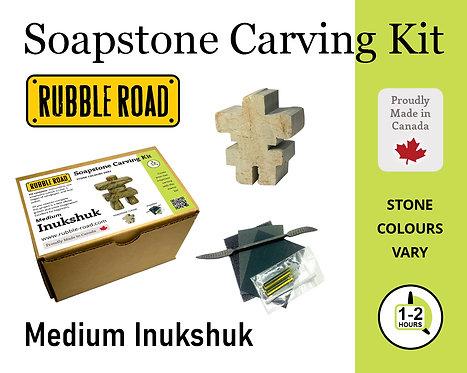 Inukshuk Medium Soapstone Carving Kit